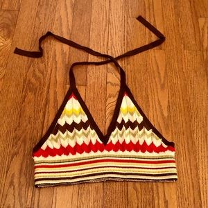Forever 21 ZigZag Knit Crop Top